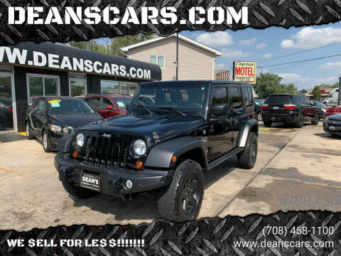 2012 Jeep Wrangler Unlimited for sale at DEANSCARS.COM in Bridgeview IL