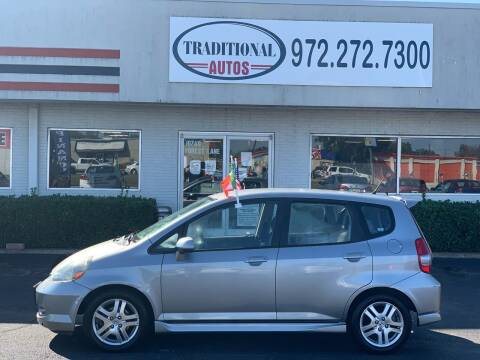 2007 Honda Fit for sale at Traditional Autos in Dallas TX