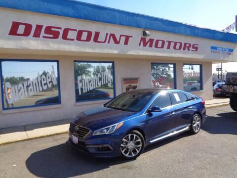 2015 Hyundai Sonata for sale at Discount Motors in Pueblo CO