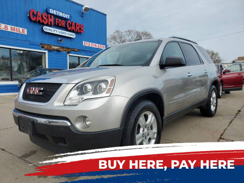 2008 GMC Acadia for sale at Detroit Cash for Cars in Warren MI