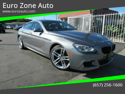 2013 BMW 6 Series for sale at Euro Zone Auto in Stanton CA