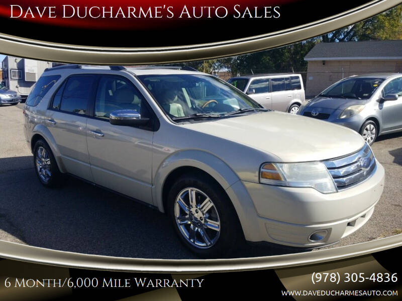 2008 Ford Taurus X for sale at Dave Ducharme's Auto Sales in Lowell MA