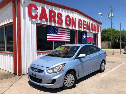 2014 Hyundai Accent for sale at Cars On Demand 2 in Pasadena TX