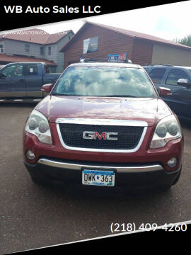 2008 GMC Acadia for sale at WB Auto Sales LLC in Barnum MN