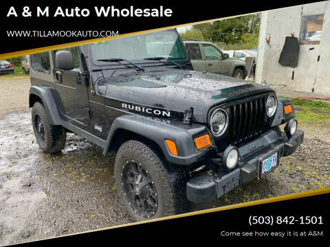 2004 Jeep Wrangler for sale at A & M Auto Wholesale in Tillamook OR