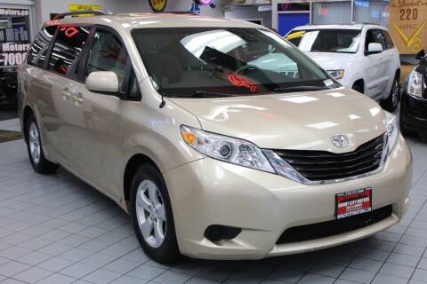 2012 Toyota Sienna for sale at Windy City Motors in Chicago IL