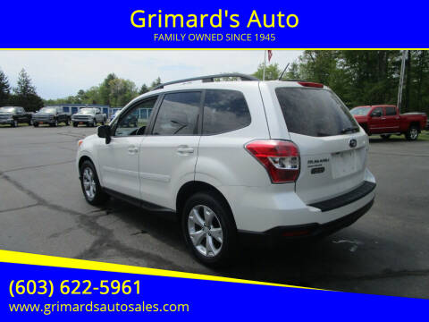 2014 Subaru Forester for sale at Grimard's Auto in Hooksett NH