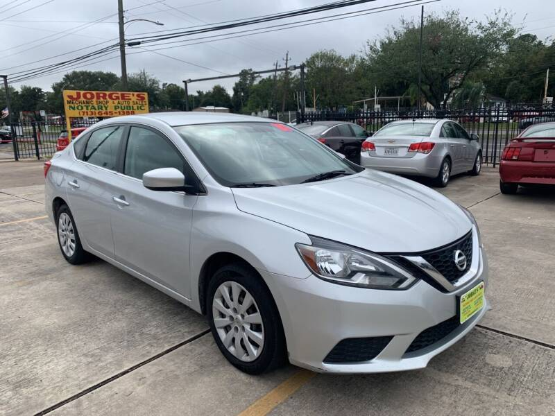 2018 Nissan Sentra for sale at JORGE'S MECHANIC SHOP & AUTO SALES in Houston TX