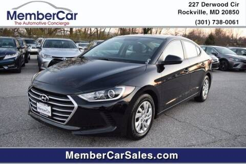 2017 Hyundai Elantra for sale at MemberCar in Rockville MD