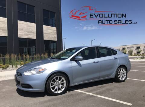 2013 Dodge Dart for sale at Evolution Auto Sales LLC in Springville UT