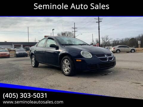 2005 Dodge Neon for sale at Seminole Auto Sales in Seminole OK