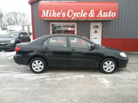 2004 Toyota Corolla for sale at MIKE'S CYCLE & AUTO in Connersville IN