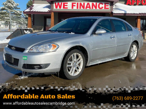 2013 Chevrolet Impala for sale at Affordable Auto Sales in Cambridge MN