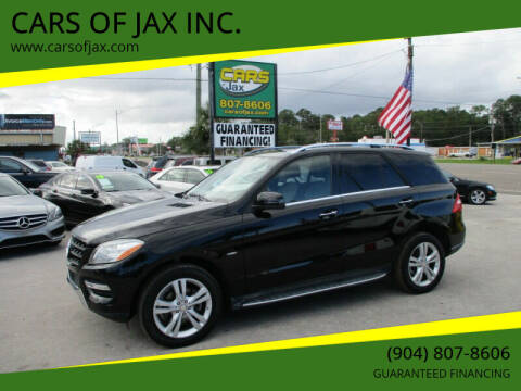 2012 Mercedes-Benz M-Class for sale at CARS OF JAX INC. in Jacksonville FL