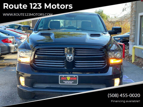 2013 RAM Ram Pickup 1500 for sale at Route 123 Motors in Norton MA