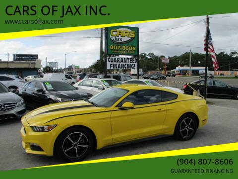 2015 Ford Mustang for sale at CARS OF JAX INC. in Jacksonville FL