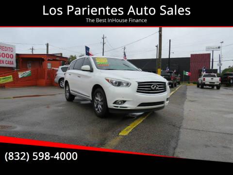 2013 Infiniti JX35 for sale at Los Parientes Auto Sales in Houston TX