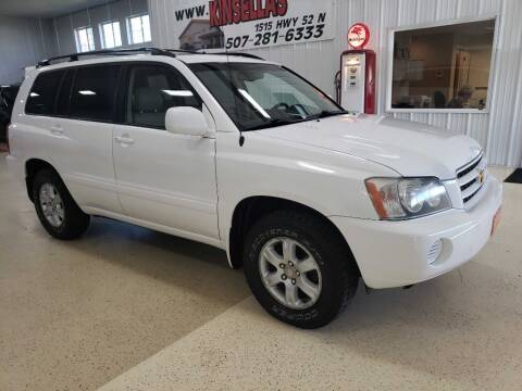 2003 Toyota Highlander for sale at Kinsellas Auto Sales in Rochester MN