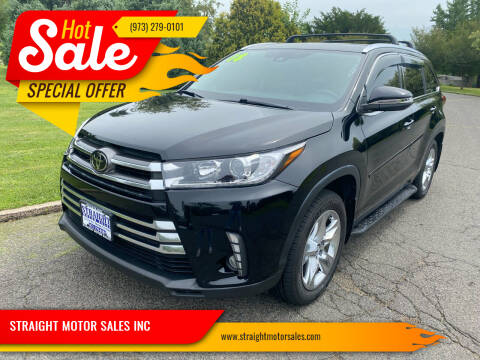 2018 Toyota Highlander for sale at STRAIGHT MOTOR SALES INC in Paterson NJ