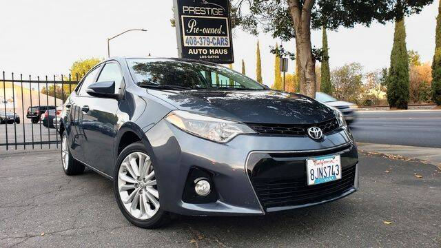 2015 Toyota Corolla for sale at PRESTIGE PRE OWNED INC in Campbell CA