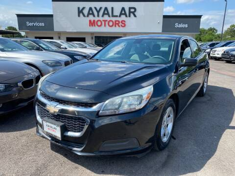2015 Chevrolet Malibu for sale at KAYALAR MOTORS in Houston TX