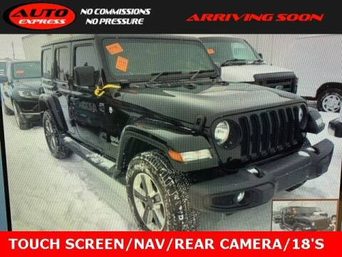 2019 Jeep Wrangler Unlimited for sale at Auto Express in Lafayette IN