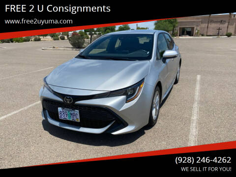 2021 Toyota Corolla Hatchback for sale at FREE 2 U Consignments in Yuma AZ