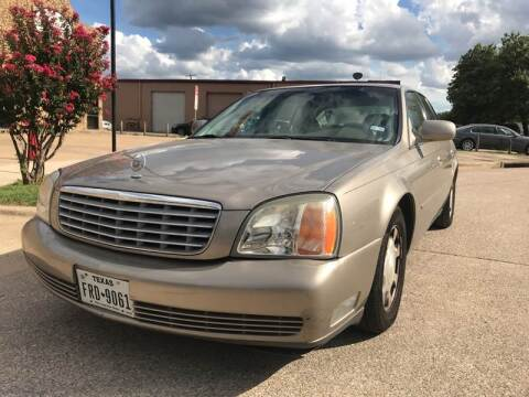 2001 Cadillac DeVille for sale at BJ International Auto LLC in Dallas TX