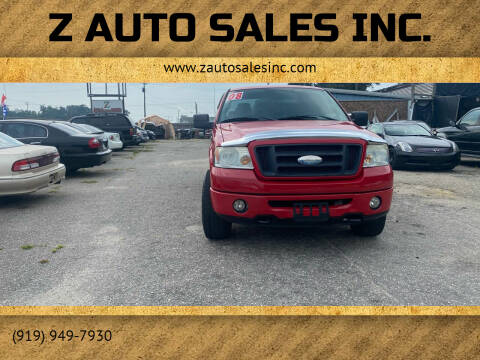 2008 Ford F-150 for sale at Z Auto Sales Inc. in Rocky Mount NC