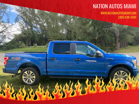 2018 Ford F-150 for sale at Nation Autos Miami in Hialeah FL