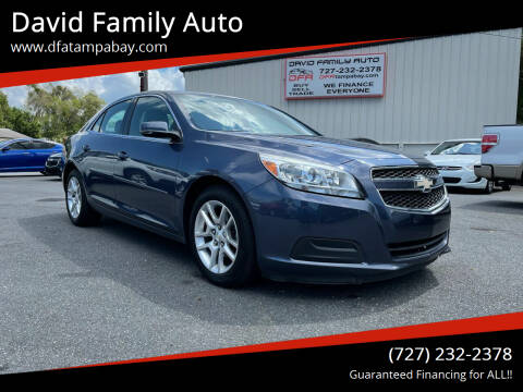 2013 Chevrolet Malibu for sale at David Family Auto in New Port Richey FL