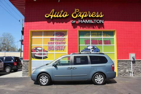 2008 Kia Sedona for sale at AUTO EXPRESS OF HAMILTON LLC in Hamilton OH
