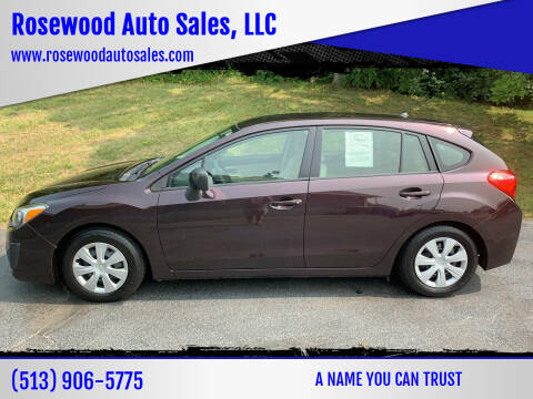 2012 Subaru Impreza for sale at Rosewood Auto Sales, LLC in Hamilton OH