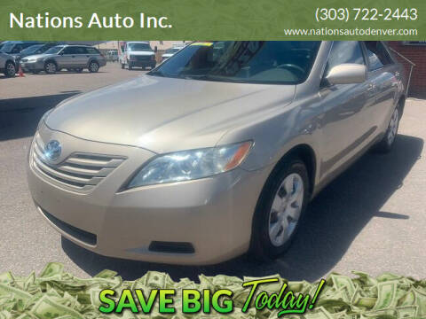 2008 Toyota Camry for sale at Nations Auto Inc. in Denver CO
