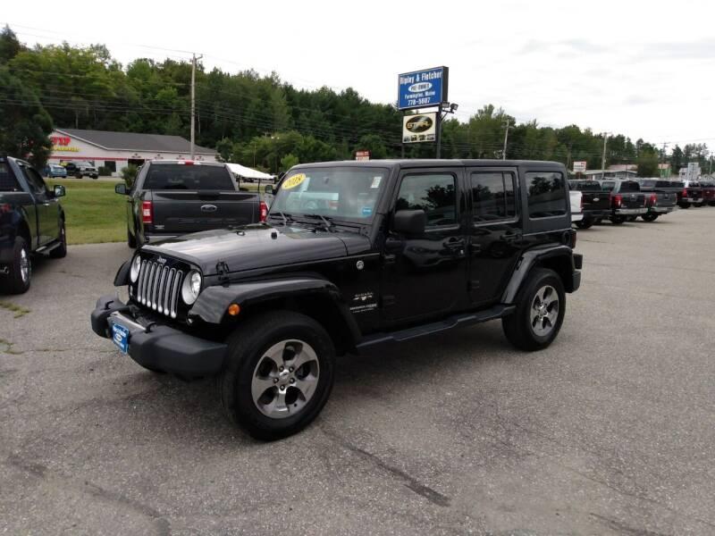 2018 Jeep Wrangler JK Unlimited for sale at Ripley & Fletcher Pre-Owned Sales & Service in Farmington ME