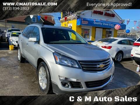 2015 Chevrolet Traverse for sale at C & M Auto Sales in Detroit MI