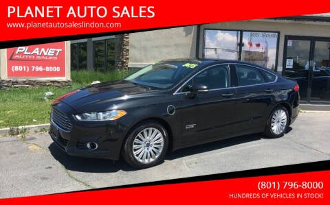2013 Ford Fusion Energi for sale at PLANET AUTO SALES in Lindon UT