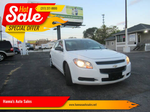 2010 Chevrolet Malibu for sale at Hanna's Auto Sales in Indianapolis IN