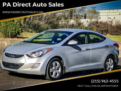 2013 Hyundai Elantra for sale at PA Direct Auto Sales in Levittown PA