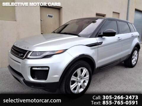 2017 Land Rover Range Rover Evoque for sale at Selective Motor Cars in Miami FL