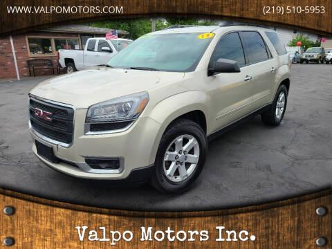2013 GMC Acadia for sale at Valpo Motors Inc. in Valparaiso IN