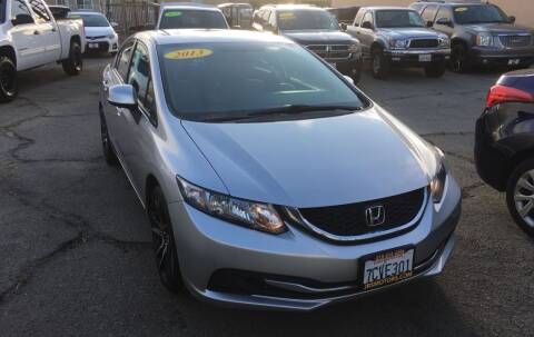 2013 Honda Civic for sale at JR'S AUTO SALES in Pacoima CA