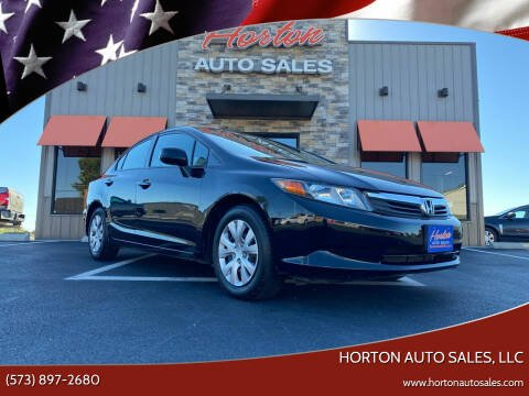 2012 Honda Civic for sale at HORTON AUTO SALES, LLC in Linn MO