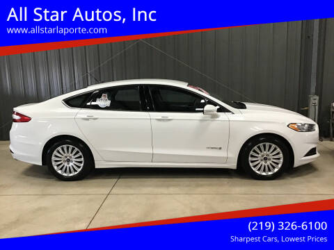 2013 Ford Fusion Hybrid for sale at All Star Autos, Inc in La Porte IN