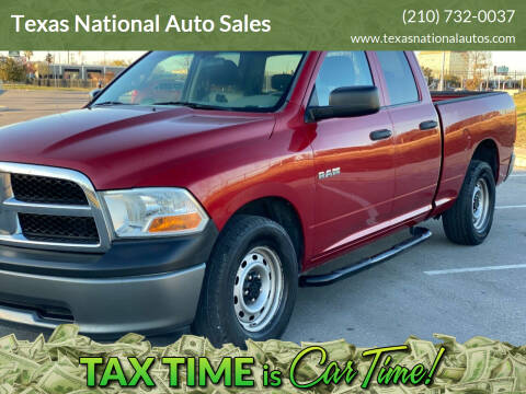 2010 Dodge Ram Pickup 1500 for sale at Texas National Auto Sales in San Antonio TX
