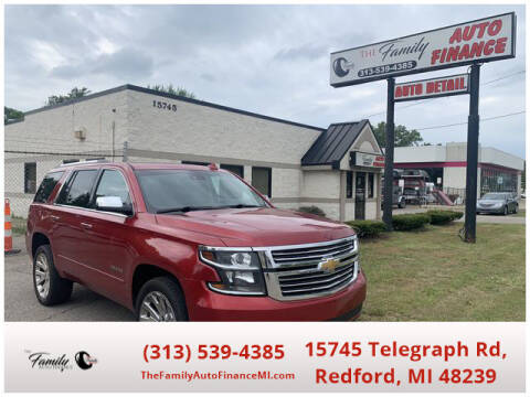 2015 Chevrolet Tahoe for sale at The Family Auto Finance in Redford MI