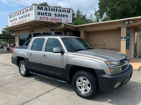 2002 Chevrolet Avalanche for sale at Mainland Auto Sales Inc in Daytona Beach FL