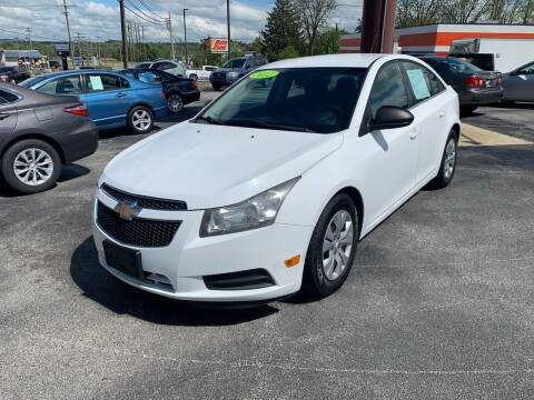 2012 Chevrolet Cruze for sale at Credit Connection Auto Sales Dover in Dover PA