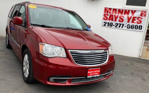 2014 Chrysler Town and Country for sale at Manny G Motors in San Antonio TX