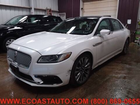 2017 Lincoln Continental for sale at East Coast Auto Source Inc. in Bedford VA